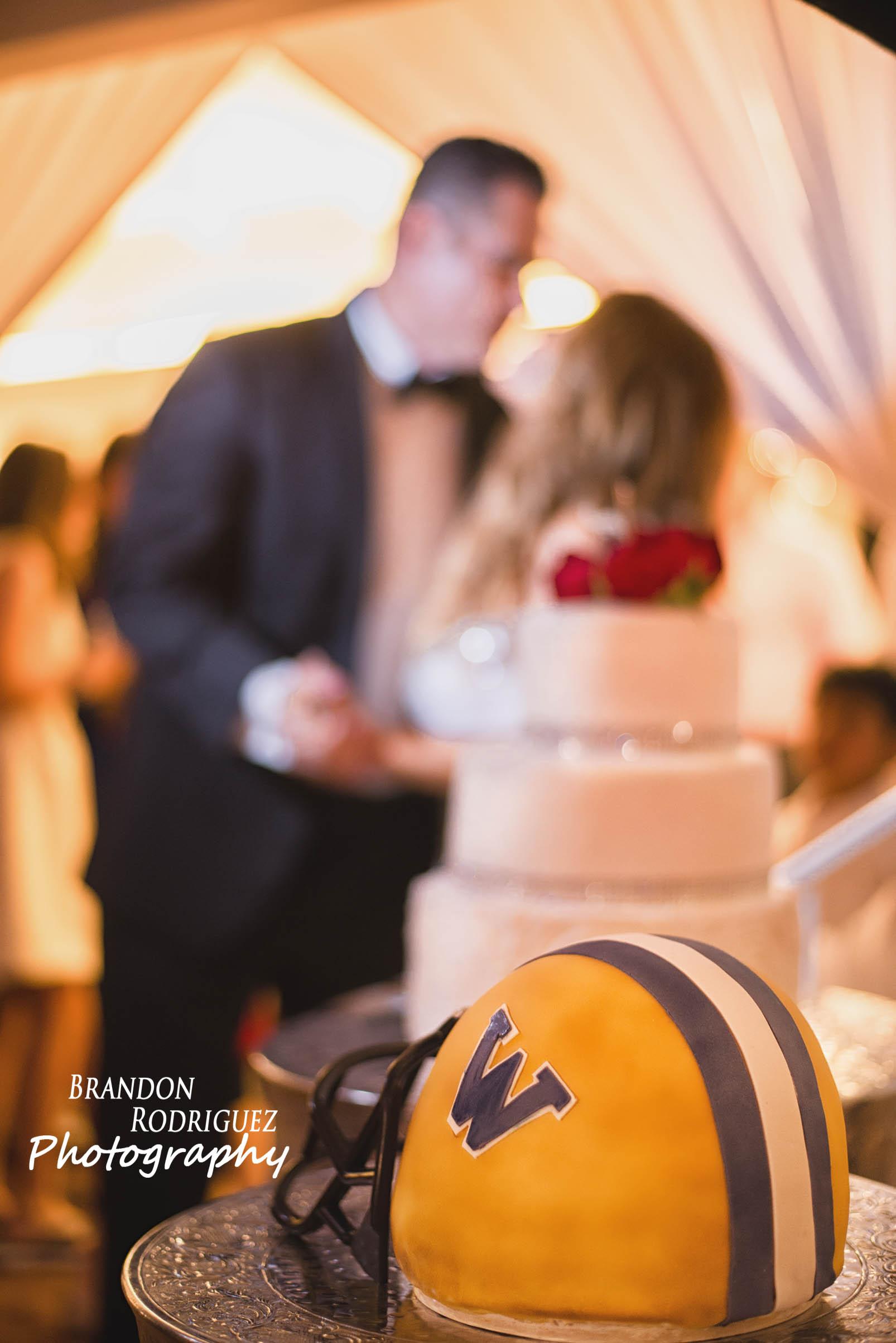 Grooms Football Helmet Cake