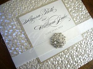 Glam rhinestone wedding invitation