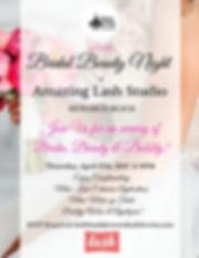 Bridal Beauty Night Invite by Dolce Vita Events OC Wedding Planner