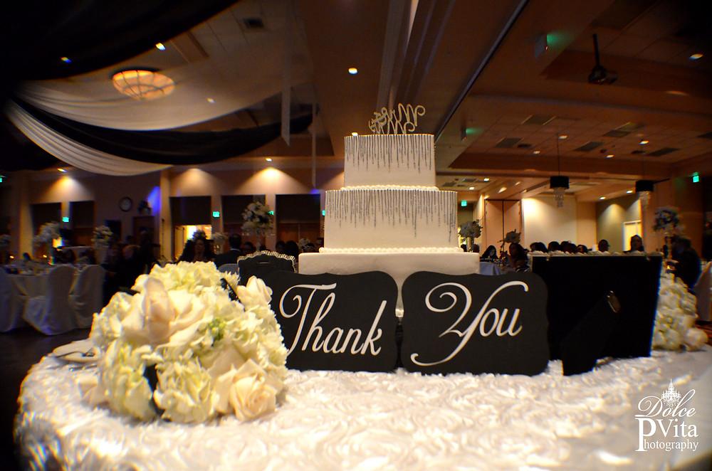 Dolce Vita Events Wedding Photography - wedding cake thank you