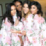 Happy Bridesmaids in Floral Robes