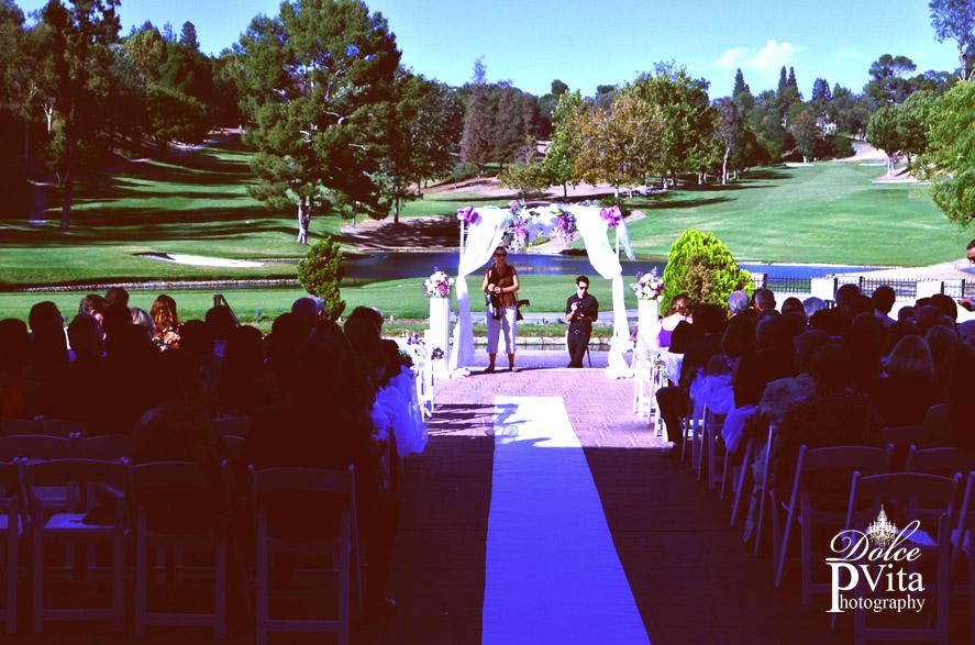Outdoor wedding arch