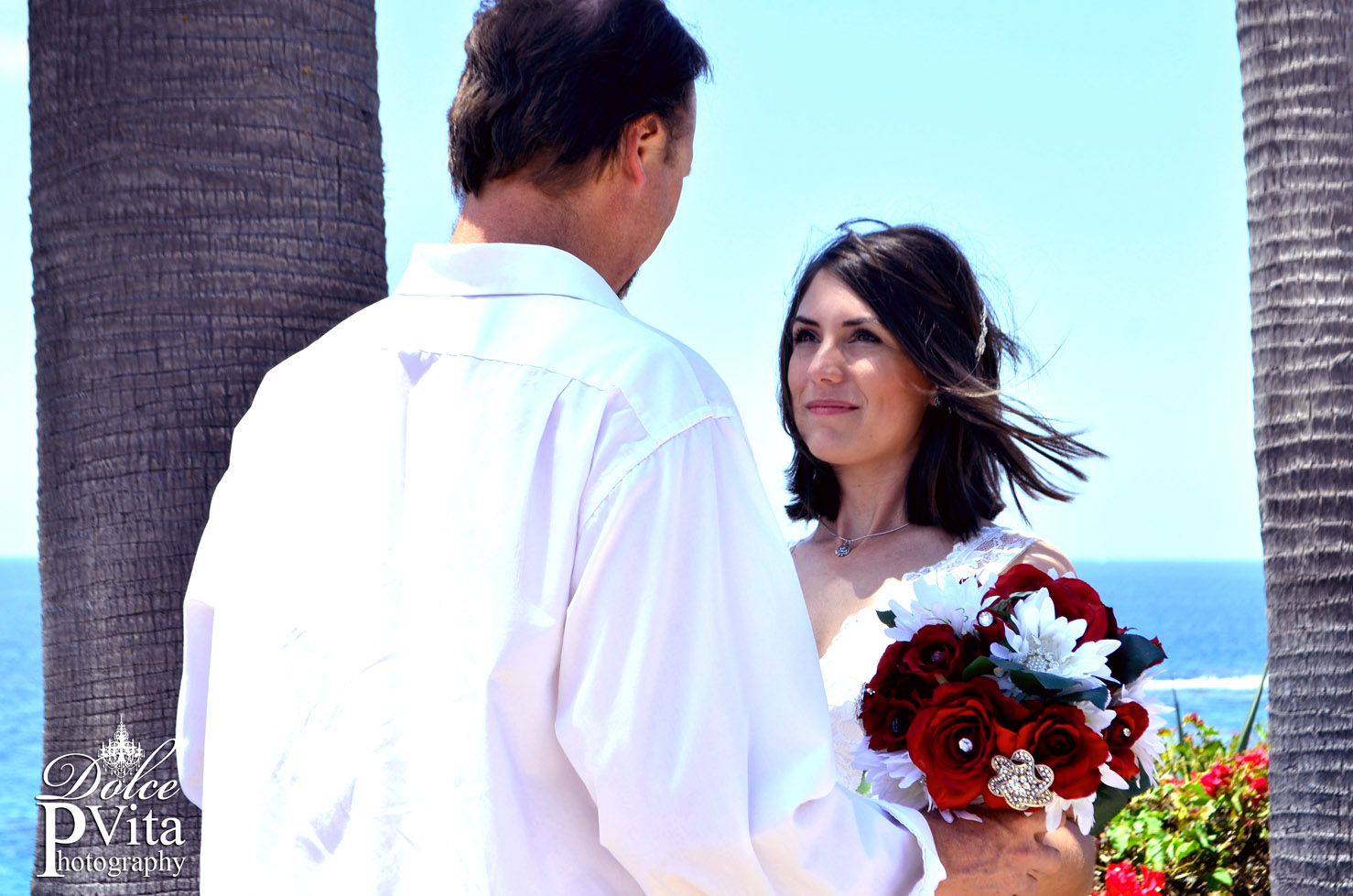 Blushing Bride in Laguna Beach