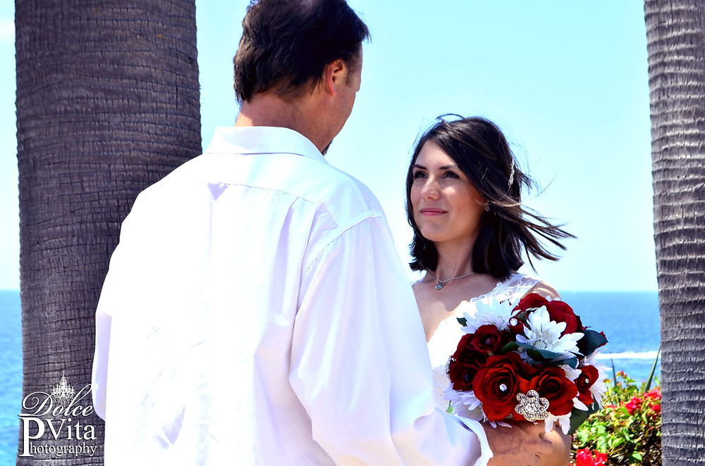 Laguna Beach wedding shot at Montage Resort