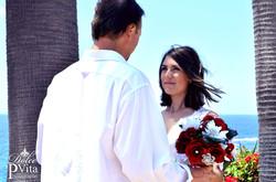 Blushing Bride in Laguna Beach