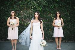Modern vintage bride and bridesmaids