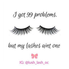 Luxury lash extensions of Instagram Lush Lash OC