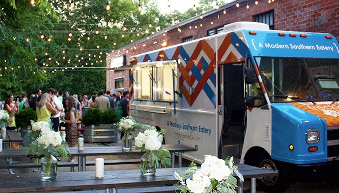 Roaming Hunger wedding food truck
