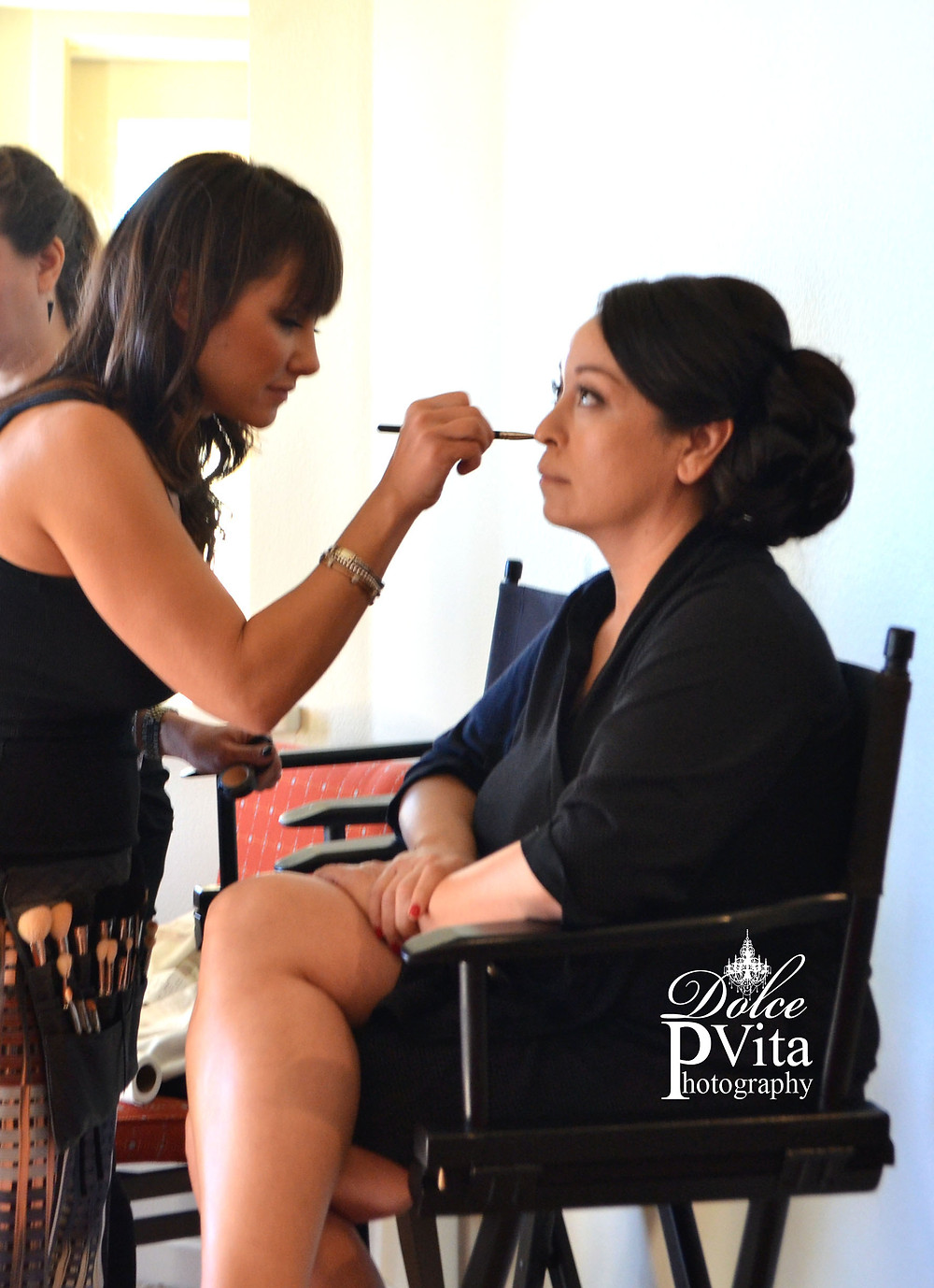 Dolce Vita Events Photography BTS on location Bridal Make up