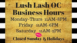 Orange County Lash Extensions Business Hours