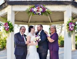 wedding gazebo tropical flowers