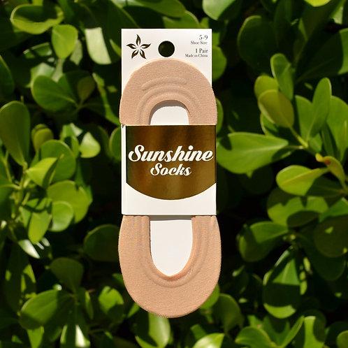 Beige Bamboo Low Cut Liner Sock
