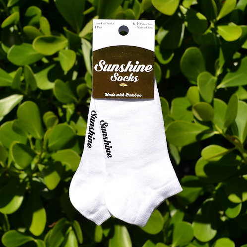White Bamboo Ankle Sock 1 Pair