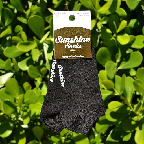 Black Bamboo Ankle Sock 1 Pair