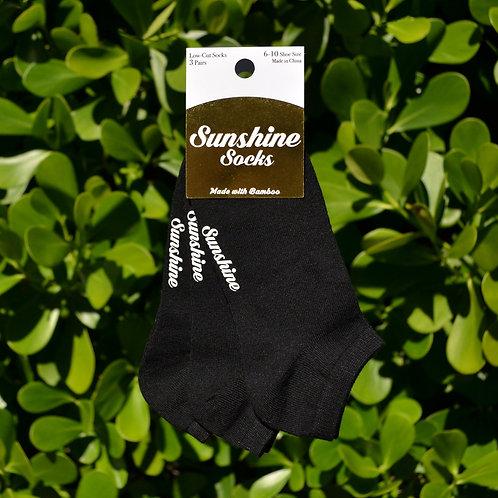 Black Bamboo Ankle Sock 3-Pack