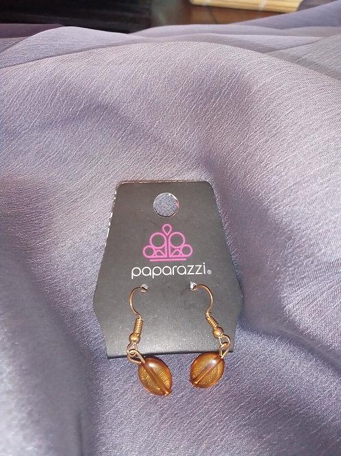 Amber Color Earrings