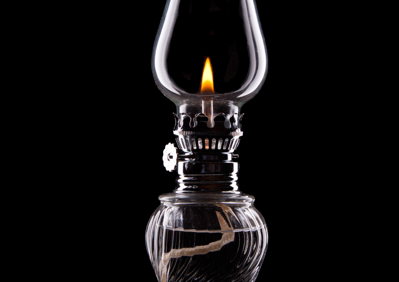 Hurricane Lamp Still Life