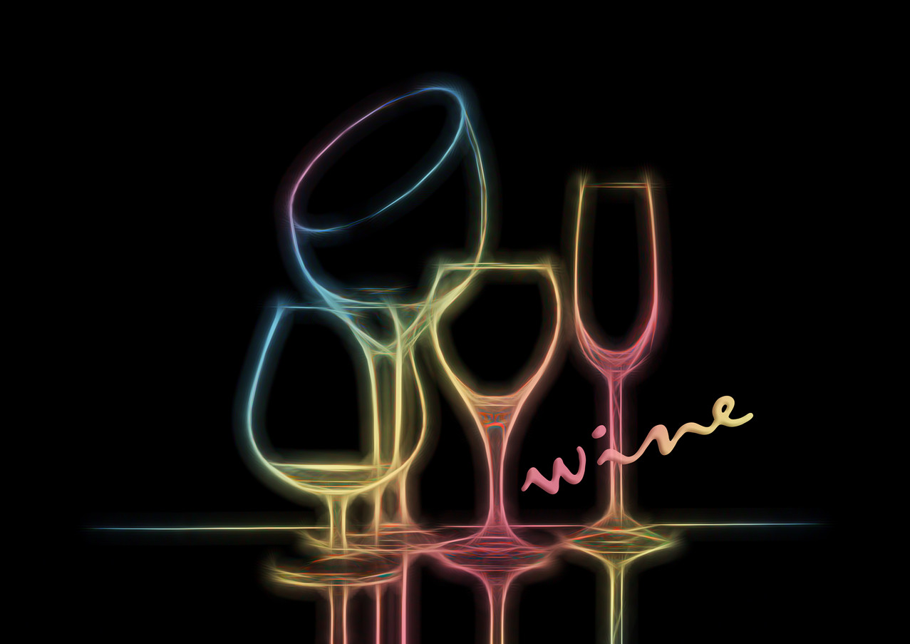 Colorful Wineglasses