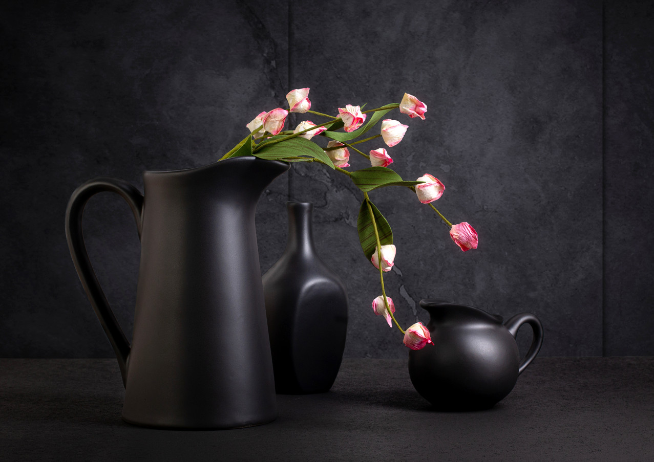 Pitchers with Flowers Still Life