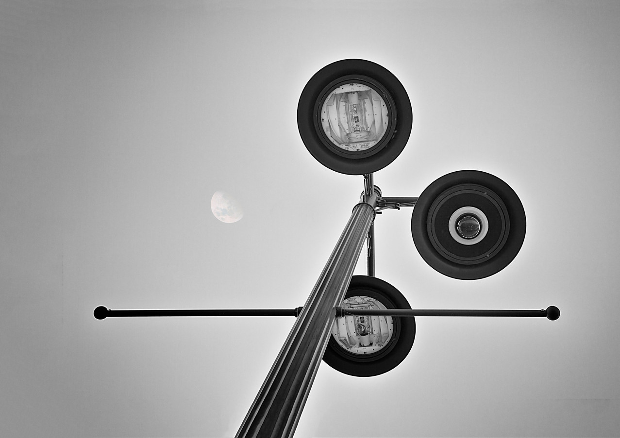 Lunar Lamp in Black and White