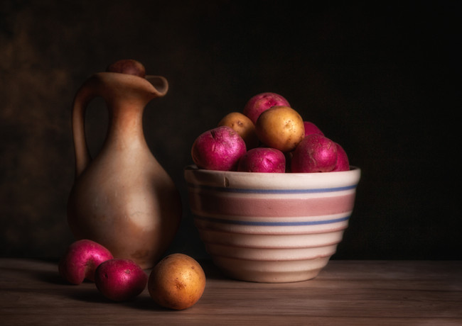Bowl of Potatoes with Pitcher