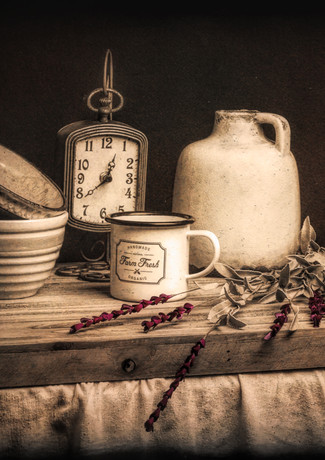 Rustic Table Setting Still Life