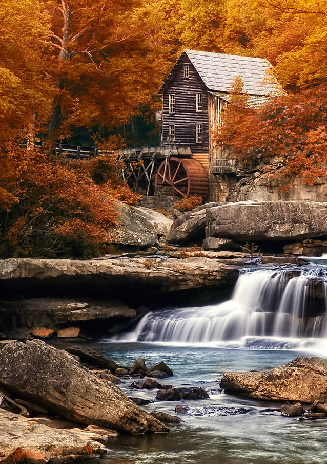 Glade Creek Mill in Autumn