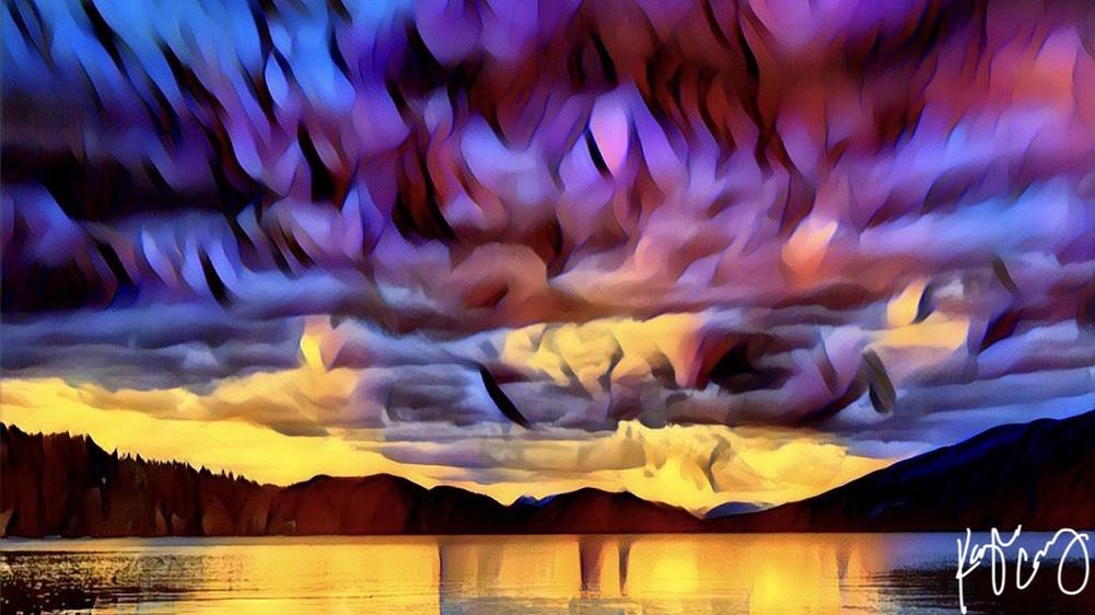Whitefish lake art 2