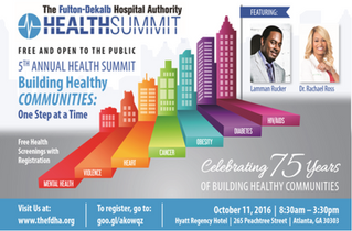 "5th Annual Health Summit ""Building Healthy Communities: One Step At A Time"""