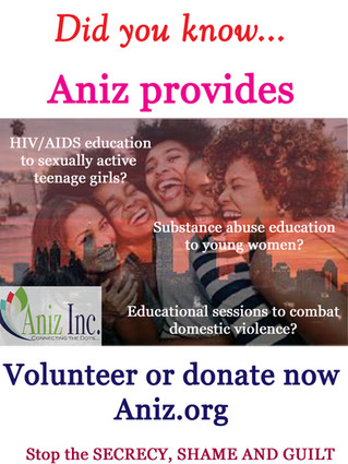 Aniz serves up an HIV campaign for African-American women - And asks for the governmen's HELP!