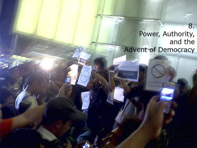8. Power, Authority, Democracy