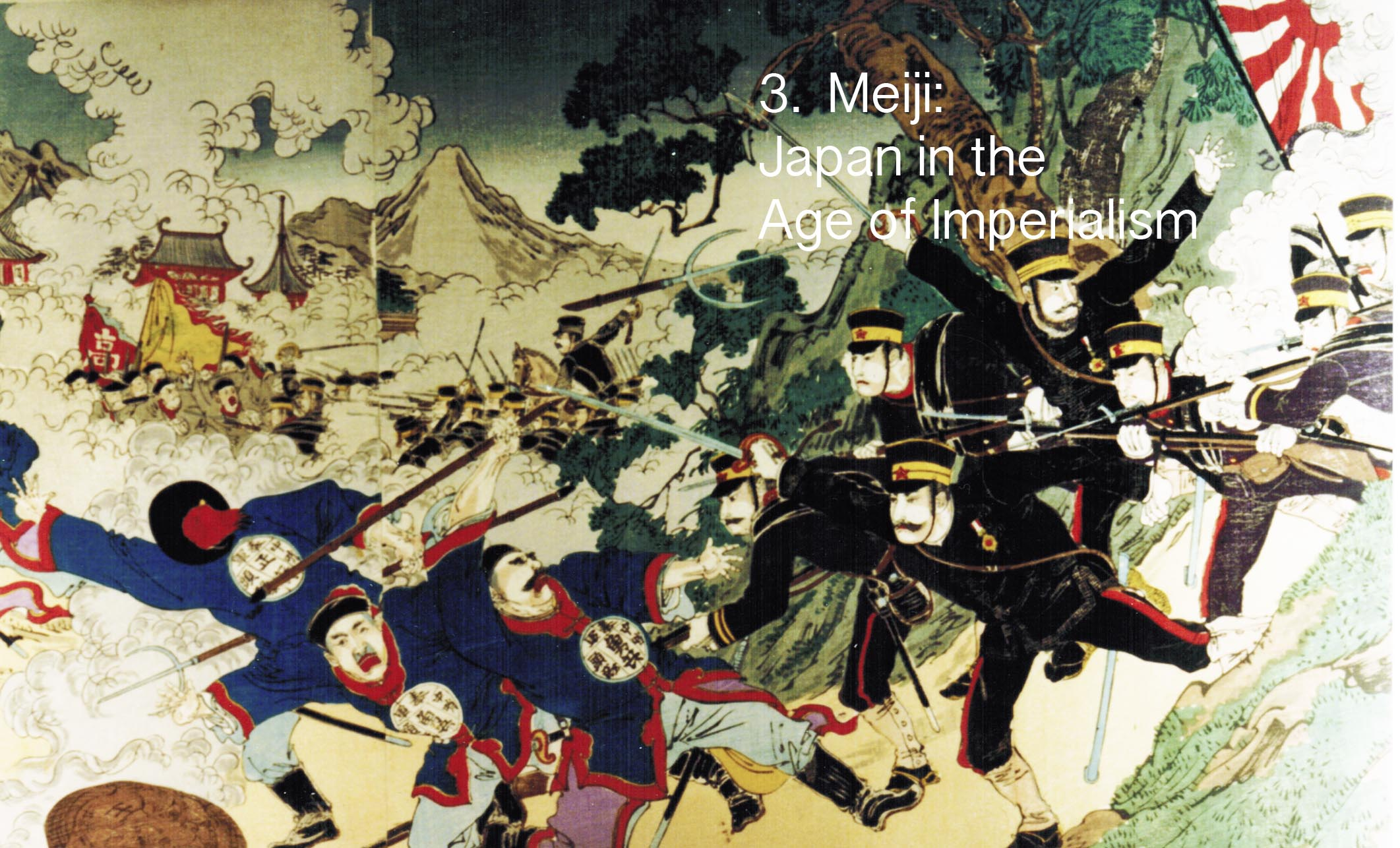Meiji troops attack edit