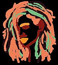 portrait graphique, style de traits de couleurs