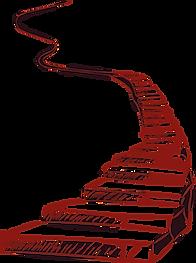 Escalier montant vers le ciel illustration du chemin de vie en numérologie