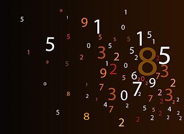 chiffres et nombre en vrac, aspects d'un thème numérologie