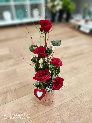 composicion rosas