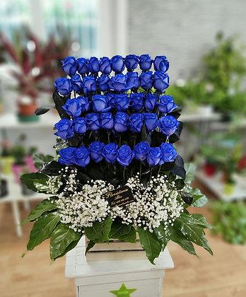 Centro 20 rosas azules