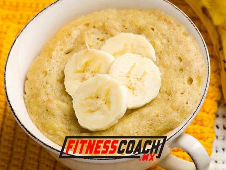 Panqué de plátano sin harina ni azúcar y alto en proteína