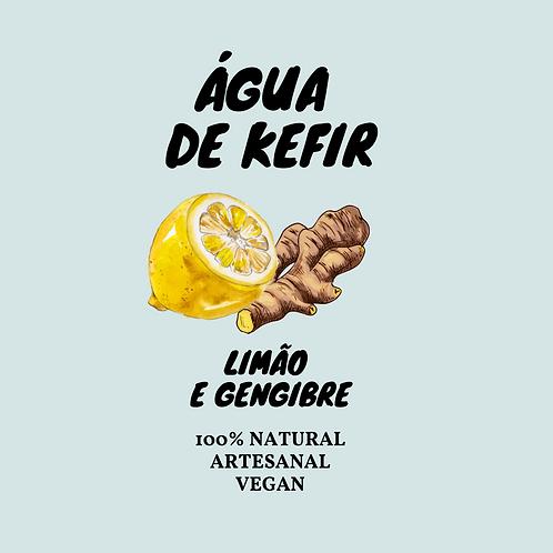 Água de Kefir Limão e Gengibre