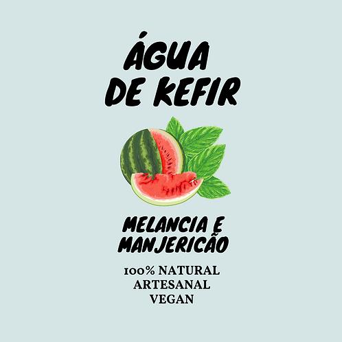 Água de Kefir Melancia e manjericão