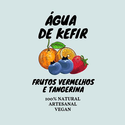 Água de Kefir Frutos Vermelhos e Tangerina