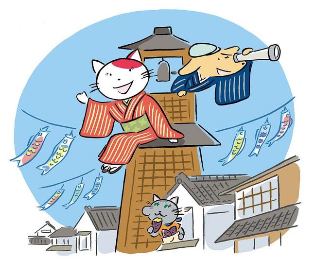 人情溢れる町「川越」を、着物でゆる〜りお散歩