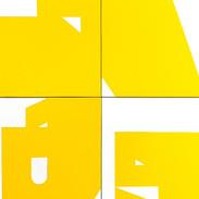 Luiz83   Amarelo (10 obras)   2018   Série: Composição_S   acrílica sobre tela   30x20x3,5cm   R$1.800,00 (cada)
