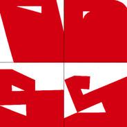 Luiz83   Vermelho (10 obras)   2018   Série: Composição_S   acrílica sobre tela   30x20x3,5cm   R$1.800,00 (cada)