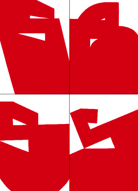 Luiz83 | Vermelho (10 obras) | 2018 | Série: Composição_S | acrílica sobre tela | 30x20x3,5cm | R$1.800,00 (cada)