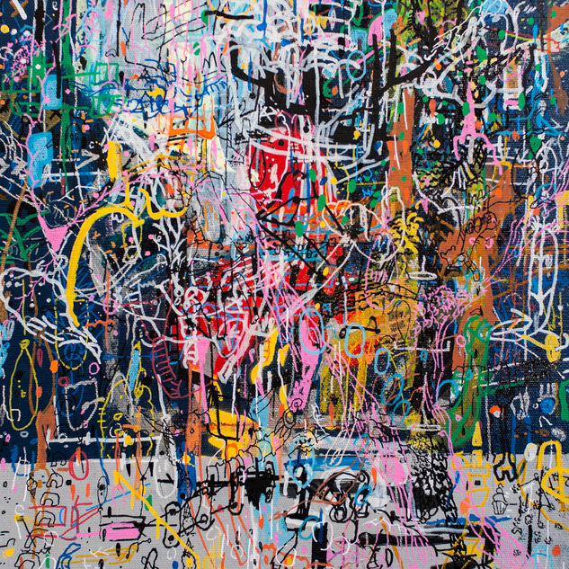 Marcelo Gandhi | Sem título | técnica mista sobre tela | 40x30cm