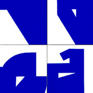 Luiz83   Azul (10 obras)   2017   Série: Composição_S   acrílica sobre tela   30x20x3,5cm   R$1.800,00 (cada)