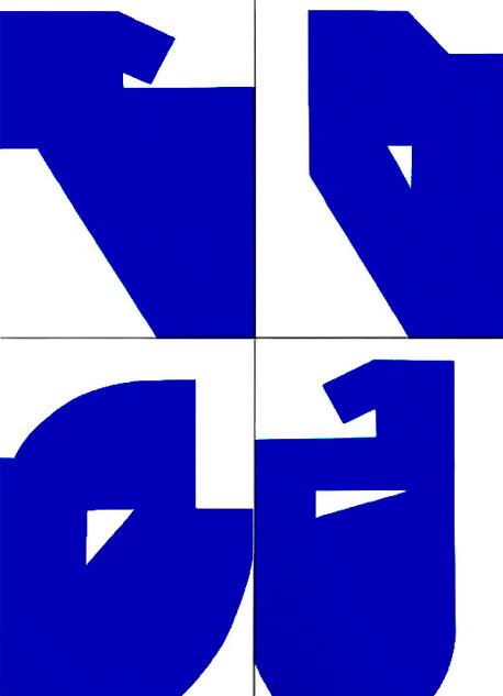 Luiz83 | Azul (10 obras) | 2017 | Série: Composição_S | acrílica sobre tela | 30x20x3,5cm | R$1.800,00 (cada)