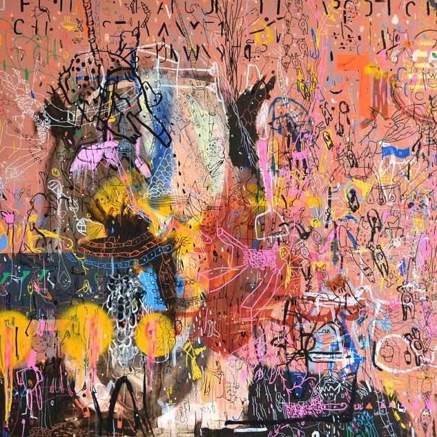 Marcelo Gandhi | Faws | Pintura sobre tela | 80x100cm