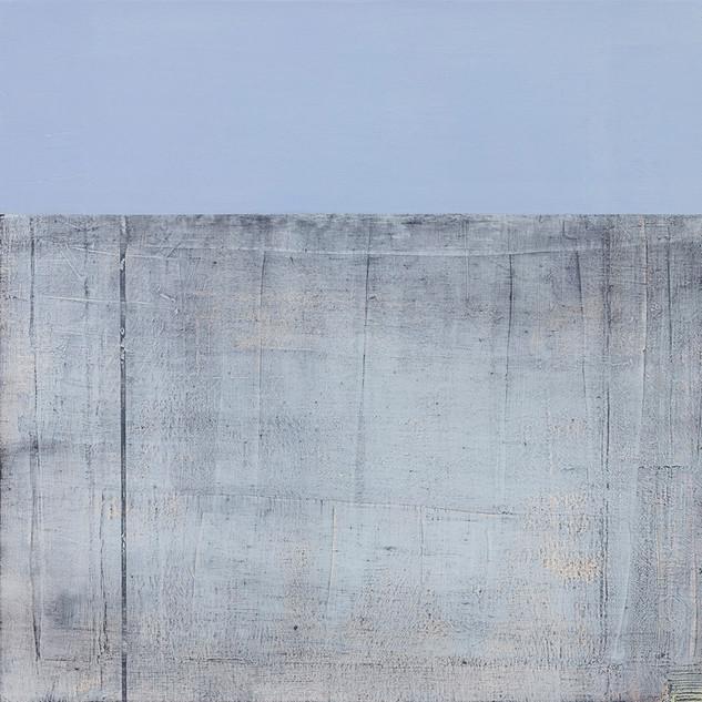 Cynthia Leitão | Faixa Azul | 2019 | técnica mista sobre tela | 50x50cm | R$3.500,00